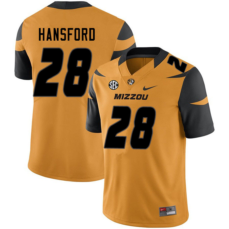 Men #28 Jatorian Hansford Missouri Tigers College Football Jerseys Sale-Yellow